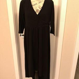 Torrid Black High Low V-Neck Dress 0 Plus Size
